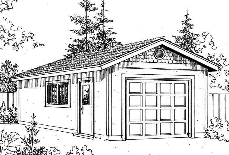 Mediterranean 1 Car Garage Plan 59443 Elevation