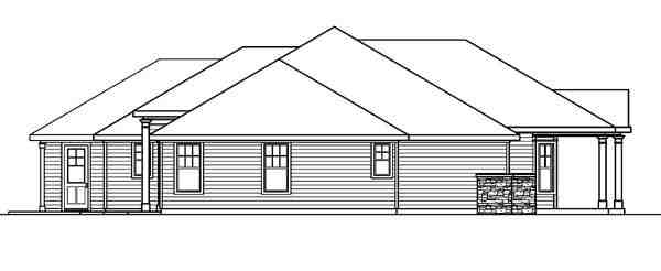 Colonial, Country, European, Florida, Ranch House Plan 59717 with 3 Beds, 3 Baths, 3 Car Garage Picture 1