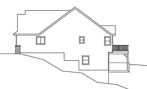 Contemporary, Cottage, European, Traditional House Plan 59719 with 3 Beds, 3 Baths, 2 Car Garage Picture 2