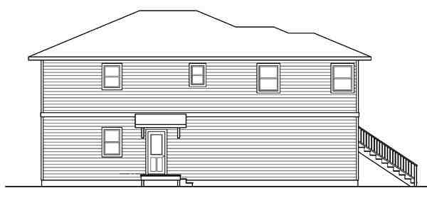 Contemporary, Florida House Plan 59720 with 2 Beds, 3 Baths, 1 Car Garage Picture 1