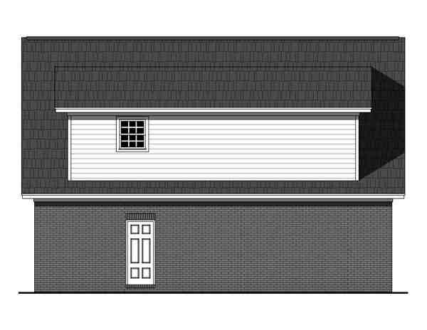 Country, Southern, Traditional 2 Car Garage Apartment Plan 59949 with 1 Beds, 1 Baths Rear Elevation