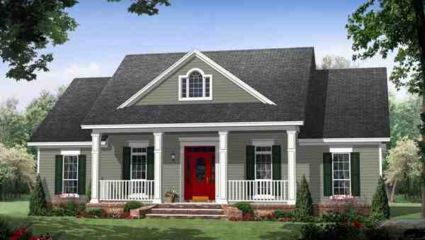 Colonial, Country, Traditional House Plan 59952 with 3 Beds, 3 Baths Elevation