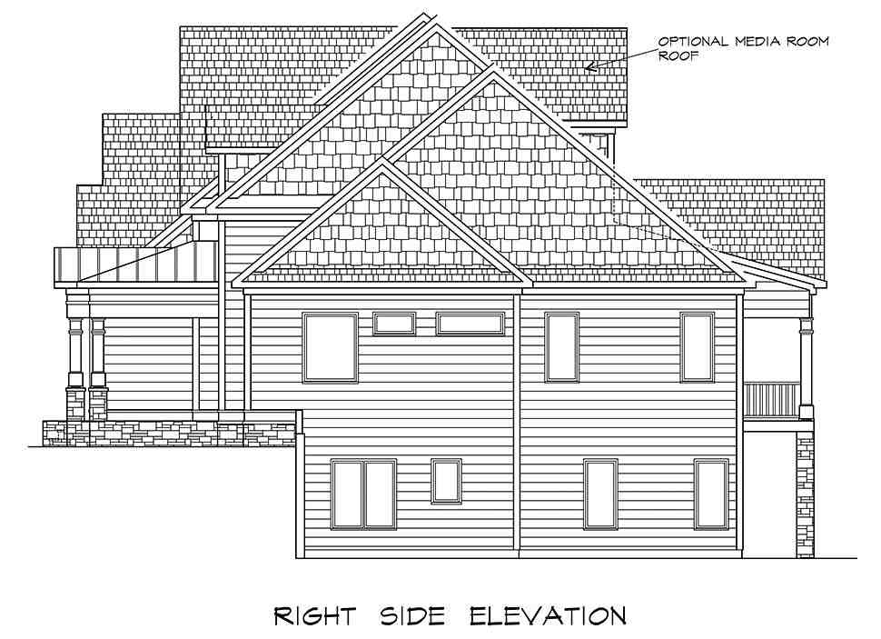 Craftsman, Traditional House Plan 60065 with 4 Beds, 5 Baths, 3 Car Garage Picture 1