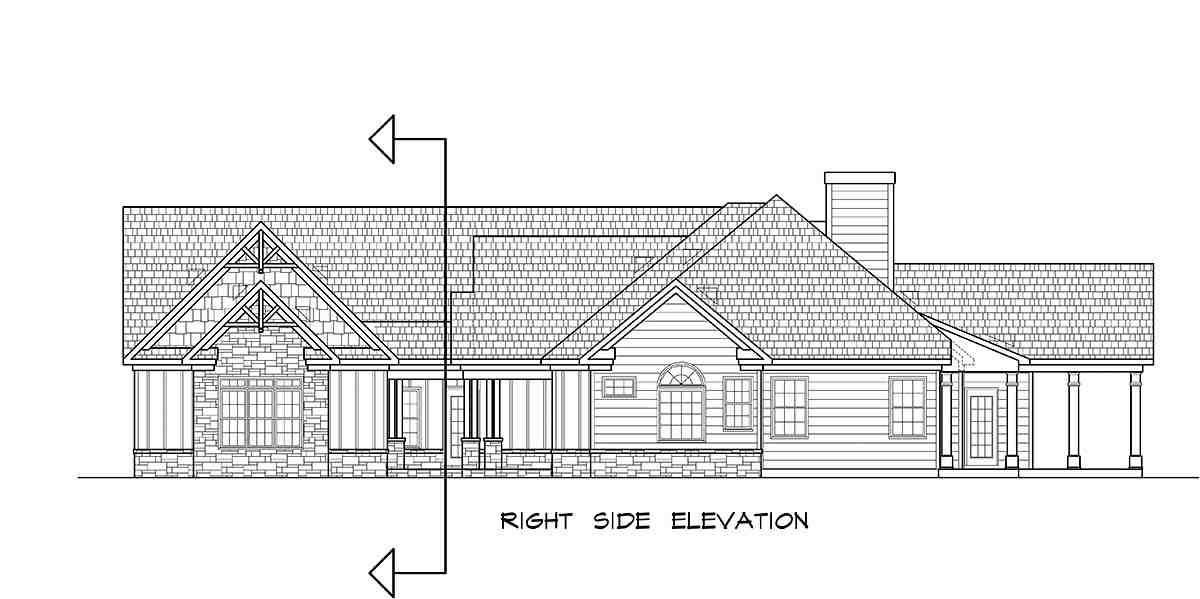 Craftsman House Plan 60077 with 4 Beds, 4 Baths, 3 Car Garage Picture 1