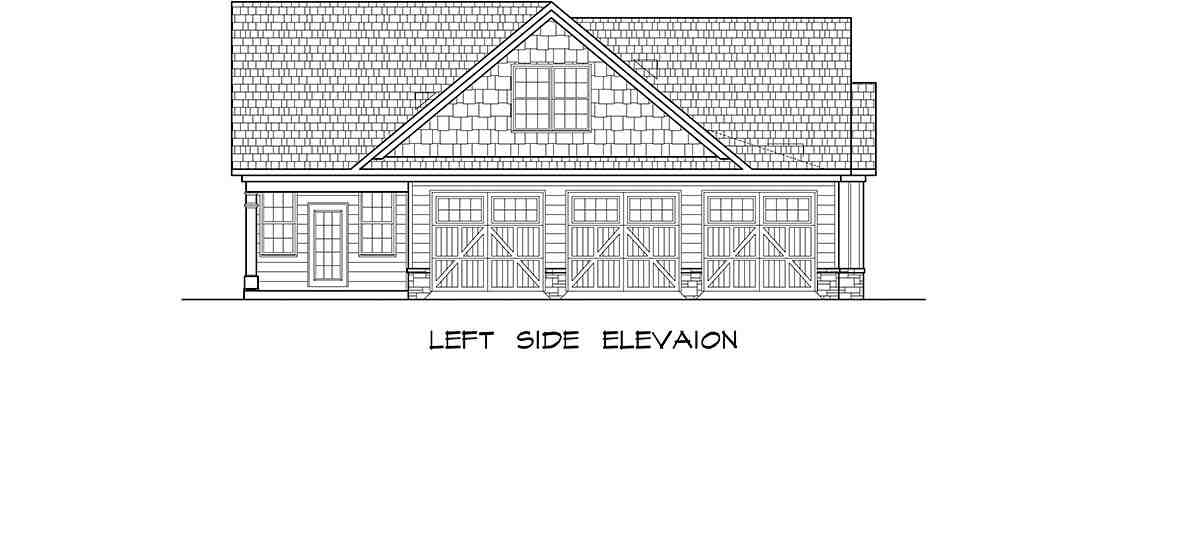 Craftsman House Plan 60077 with 4 Beds, 4 Baths, 3 Car Garage Picture 2