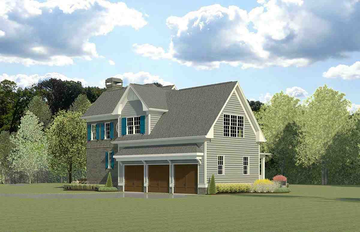 Cape Cod, French Country, Traditional House Plan 60090 with 4 Beds, 5 Baths, 3 Car Garage Picture 1