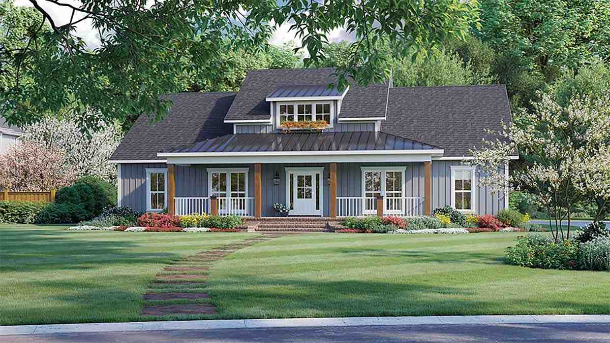 Country, Farmhouse, Ranch House Plan 60109 with 3 Beds, 3 Baths, 2 Car Garage Elevation