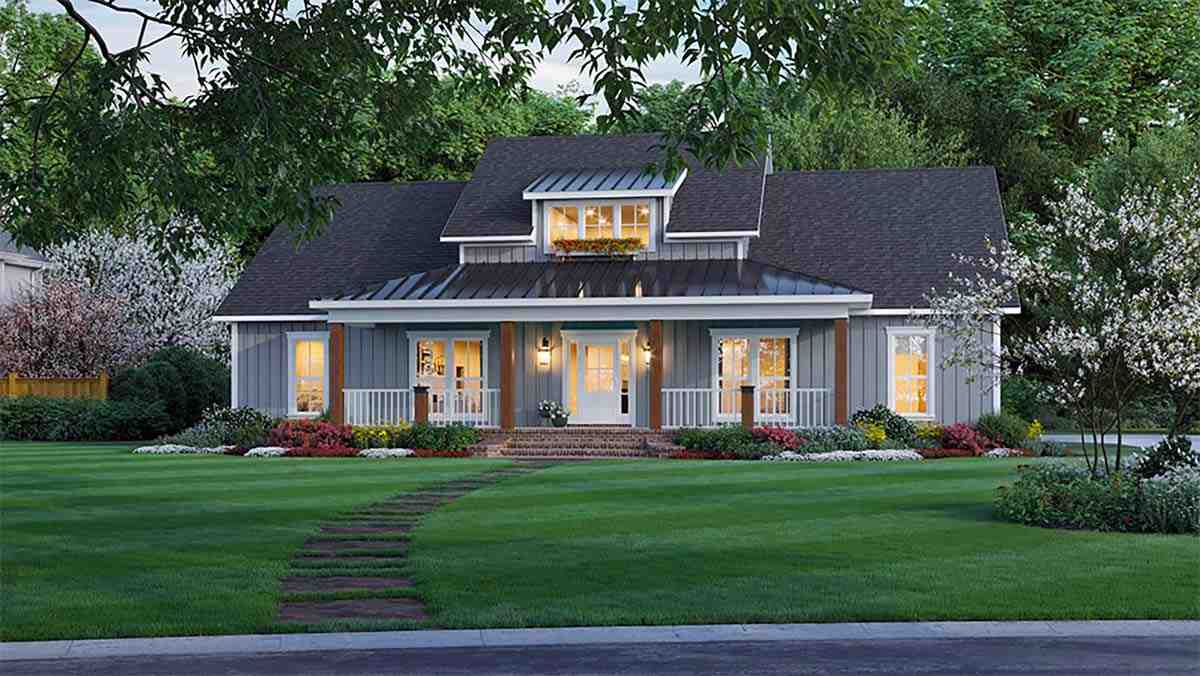 Country, Farmhouse, Ranch House Plan 60109 with 3 Beds, 3 Baths, 2 Car Garage Picture 1