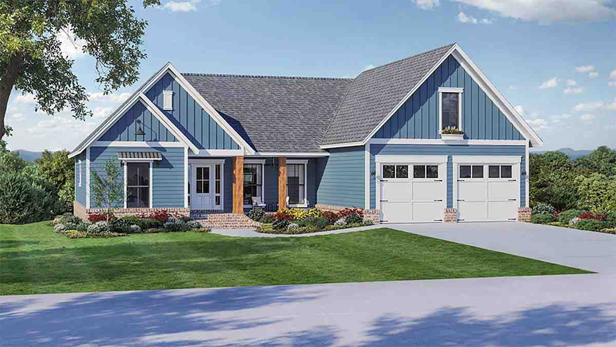 Country, Farmhouse, Ranch, Traditional House Plan 60110 with 4 Beds, 3 Baths, 2 Car Garage Picture 1