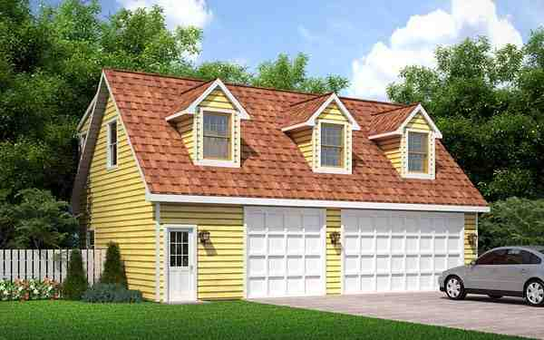 Cape Cod, Traditional 3 Car Garage Apartment Plan 6026 with 2 Beds, 1 Baths Elevation