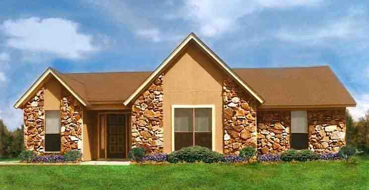 House Plan 60632 with 3 Beds, 2 Baths Elevation