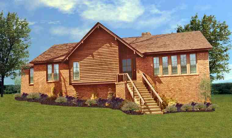 House Plan 60640 with 5 Beds, 4 Baths Elevation
