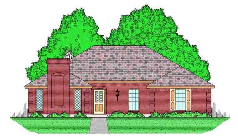 European, Traditional House Plan 60829 with 3 Beds, 2 Baths, 2 Car Garage Elevation