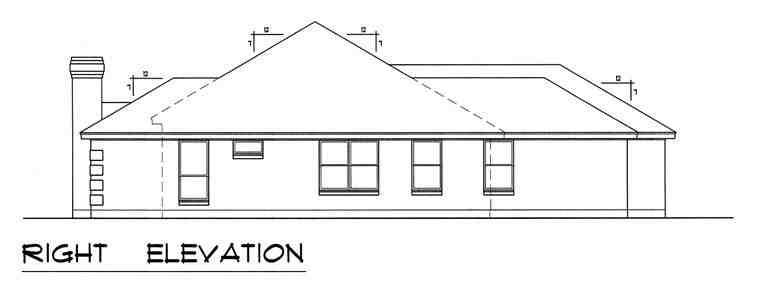 European, Traditional House Plan 60829 with 3 Beds, 2 Baths, 2 Car Garage Picture 2