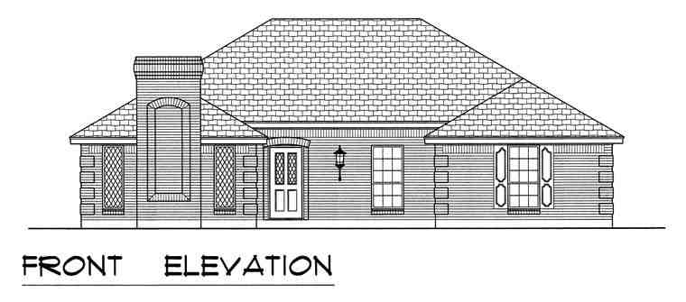 European, Traditional House Plan 60829 with 3 Beds, 2 Baths, 2 Car Garage Picture 3