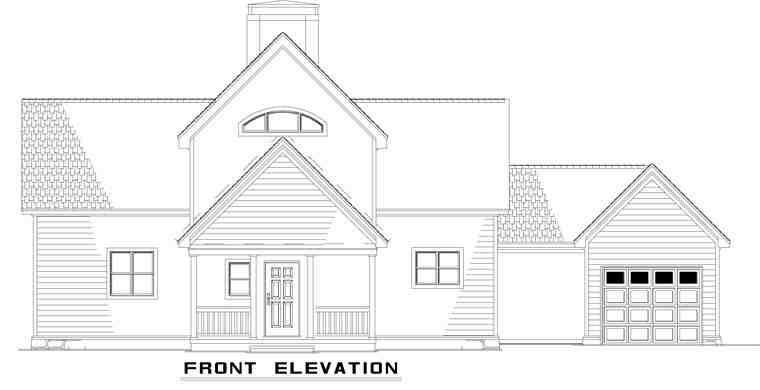 A-Frame, Coastal, Contemporary House Plan 61290 with 2 Beds, 2 Baths, 1 Car Garage Rear Elevation