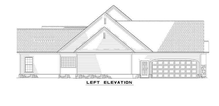 Country, Craftsman, Traditional House Plan 61323 with 4 Beds, 4 Baths, 4 Car Garage Picture 1