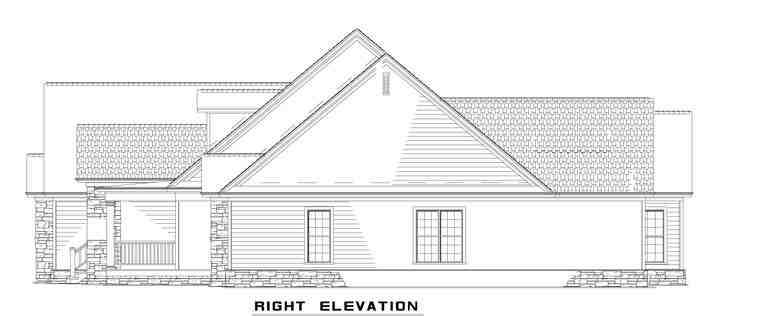 Country, Craftsman, Traditional House Plan 61323 with 4 Beds, 4 Baths, 4 Car Garage Picture 2