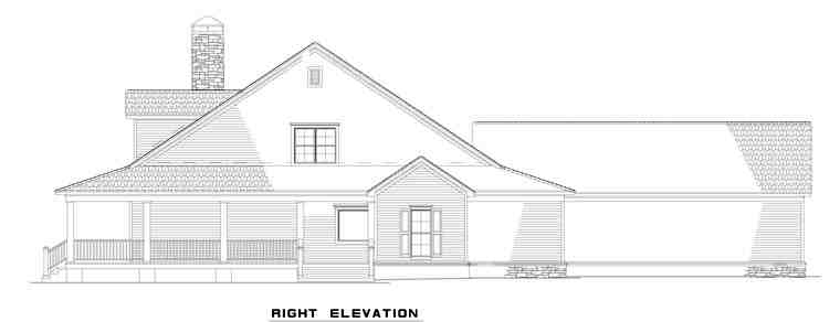 Country, Farmhouse House Plan 62207 with 4 Beds, 3 Baths, 3 Car Garage Picture 2