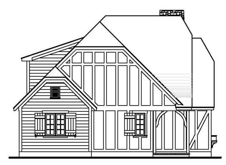 Tudor House Plan 62407 with 4 Beds, 2 Baths Picture 1
