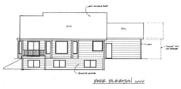 Traditional House Plan 62607 with 2 Beds, 2 Baths, 2 Car Garage Rear Elevation