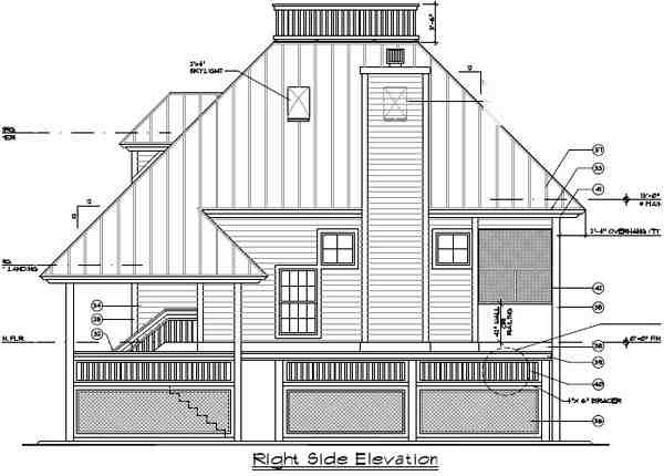 Coastal House Plan 63110 with 3 Beds, 2 Baths Picture 2