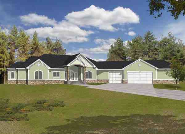 European House Plan 63548 with 4 Beds, 6 Baths, 3 Car Garage Elevation