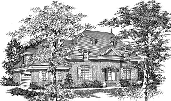 House Plan 63702 with 4 Beds, 3 Baths, 2 Car Garage Elevation