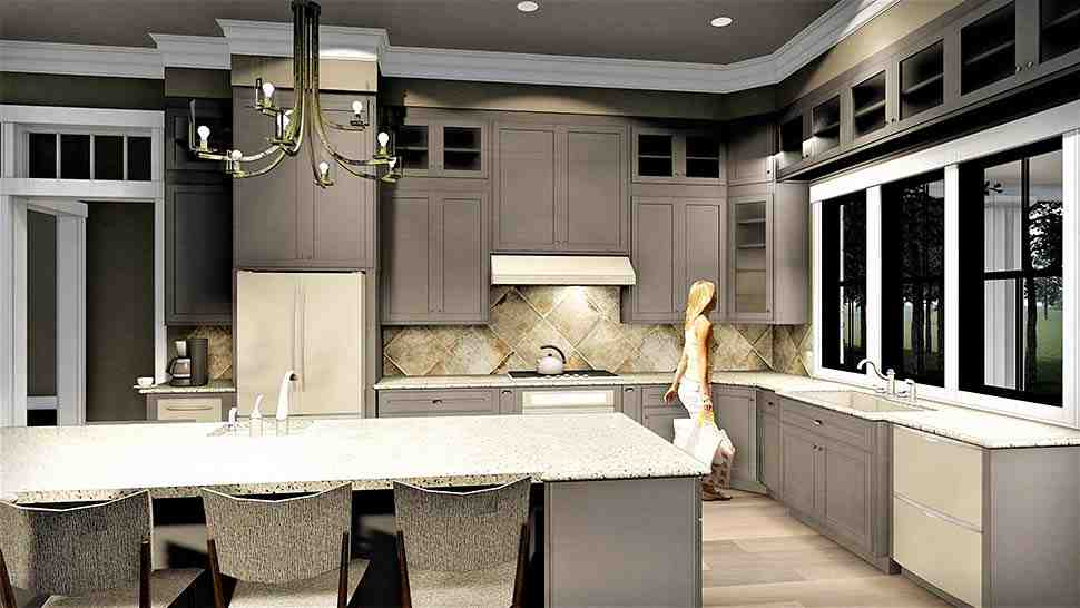 Colonial, Country, Southern House Plan 64599 with 3 Beds, 2 Baths, 2 Car Garage Picture 5