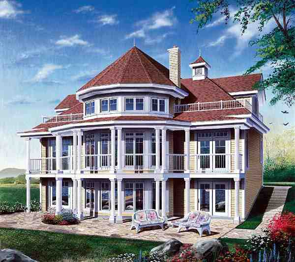 Coastal, Victorian House Plan 64807 with 4 Beds, 2 Baths, 1 Car Garage Elevation
