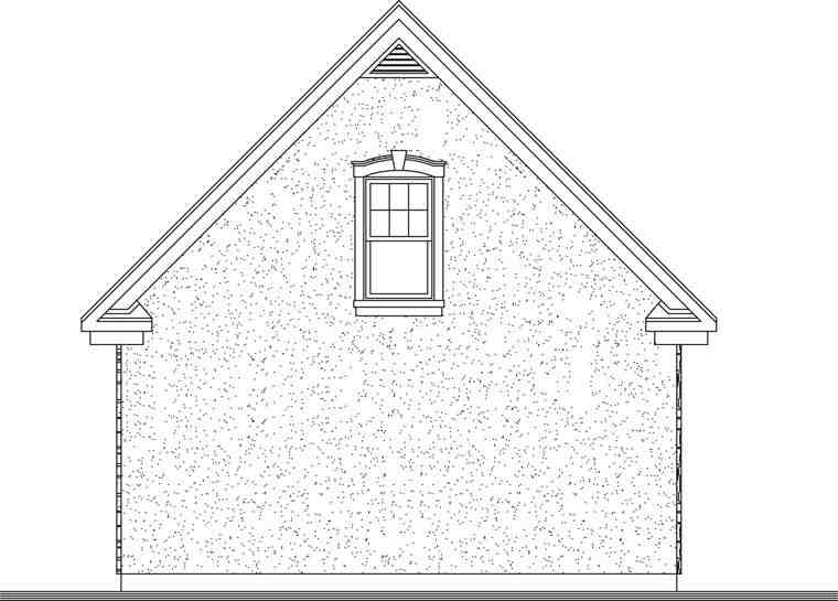 Craftsman 2 Car Garage Plan 64837 Rear Elevation