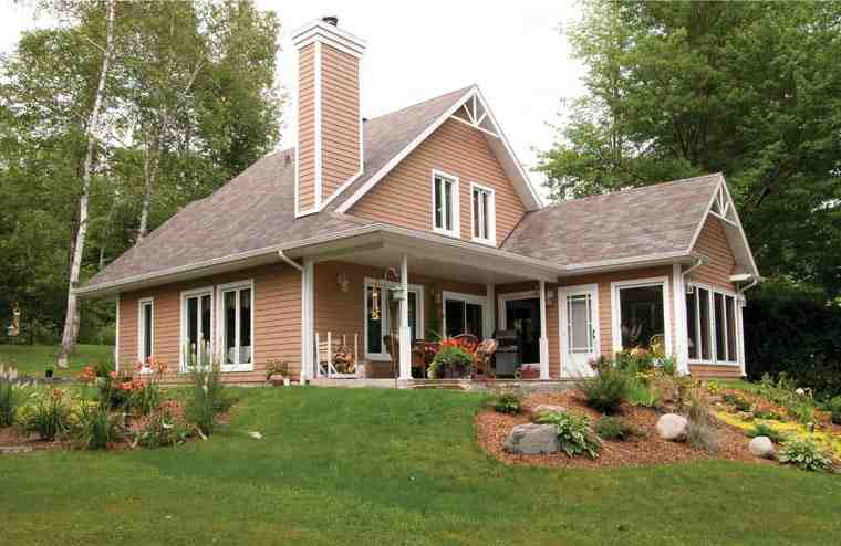 Bungalow, Contemporary, Victorian House Plan 65015 with 3 Beds, 2 Baths Picture 1