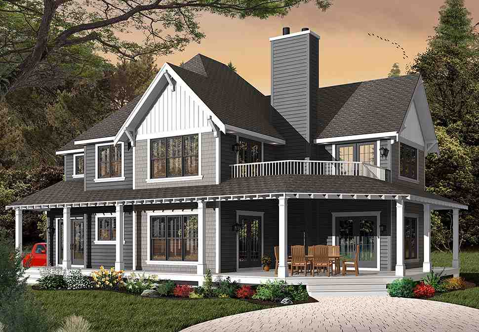 Country, Craftsman, Farmhouse House Plan 65231 with 3 Beds, 3 Baths, 2 Car Garage Picture 1