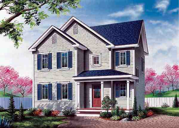 Colonial, Southern House Plan 65373 with 3 Beds, 2 Baths Elevation