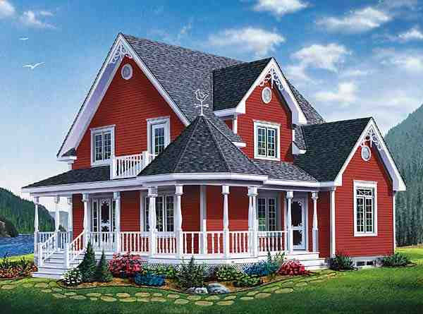 Country, Farmhouse, Southern, Victorian House Plan 65377 with 3 Beds, 2 Baths Elevation