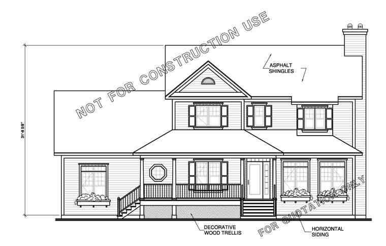 Farmhouse House Plan 65473 with 3 Beds, 3 Baths, 3 Car Garage Picture 3