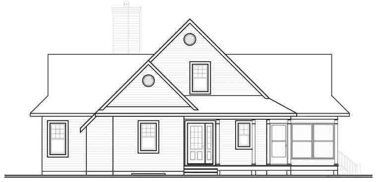 Coastal, Country, Traditional House Plan 65494 with 3 Beds, 2 Baths Picture 1