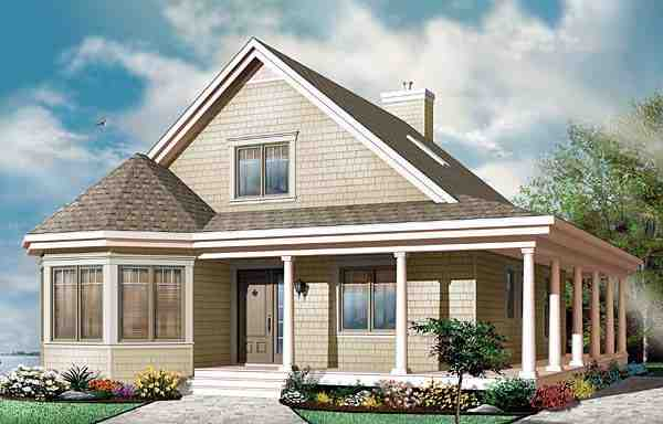 Contemporary, Country House Plan 65554 with 3 Beds, 2 Baths Elevation