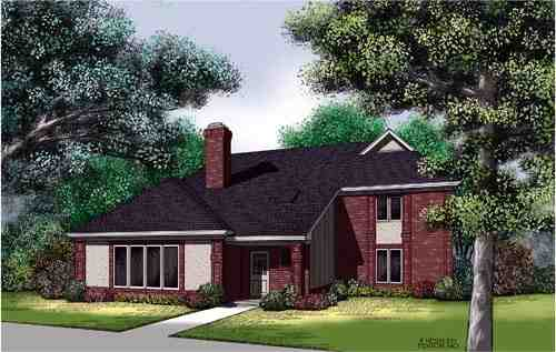 Traditional House Plan 65702 with 3 Beds, 3 Baths Elevation