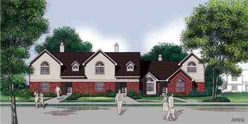 Traditional Multi-Family Plan 65705 with 6 Beds, 6 Baths, 6 Car Garage Elevation
