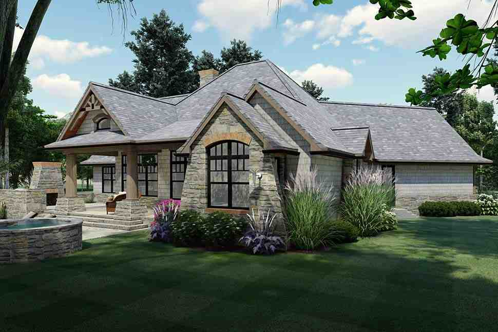 Cottage, Craftsman, Ranch, Tuscan House Plan 65867 with 3 Beds, 2 Baths, 2 Car Garage Picture 4