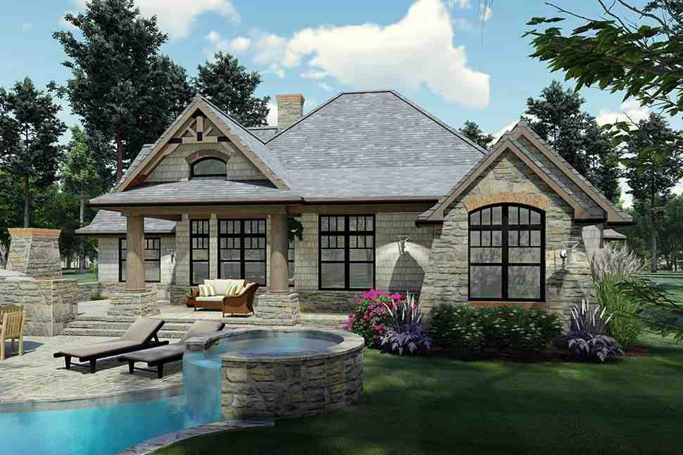 Cottage, Craftsman, Ranch, Tuscan House Plan 65867 with 3 Beds, 2 Baths, 2 Car Garage Picture 6