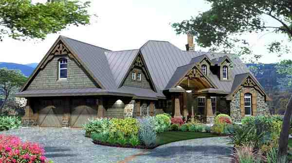 Craftsman, Tuscan House Plan 65871 with 3 Beds, 3 Baths, 2 Car Garage Picture 1