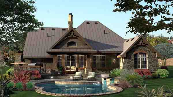 Craftsman, Tuscan House Plan 65871 with 3 Beds, 3 Baths, 2 Car Garage Picture 19
