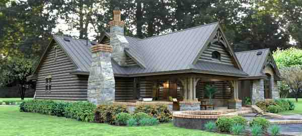 Cottage, Country, Tuscan House Plan 65874 with 3 Beds, 3 Baths, 2 Car Garage Picture 2