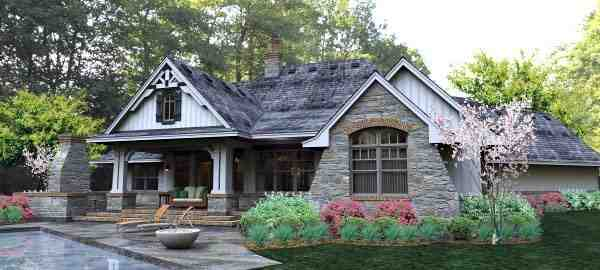 Cottage, Country, Craftsman, Traditional, Tuscan House Plan 65877 with 3 Beds, 3 Baths, 3 Car Garage Picture 6