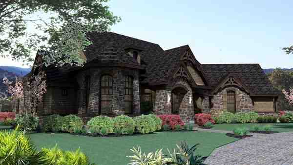 Craftsman, Tuscan House Plan 65888 with 3 Beds, 3 Baths, 2 Car Garage Picture 2