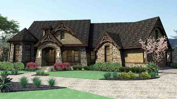 Craftsman, Tuscan House Plan 65888 with 3 Beds, 3 Baths, 2 Car Garage Picture 3