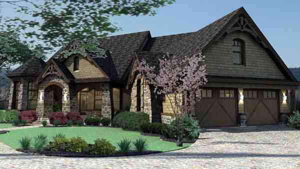 Craftsman, Tuscan House Plan 65888 with 3 Beds, 3 Baths, 2 Car Garage Picture 9