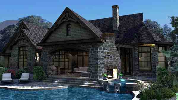 Craftsman, Tuscan House Plan 65888 with 3 Beds, 3 Baths, 2 Car Garage Picture 7